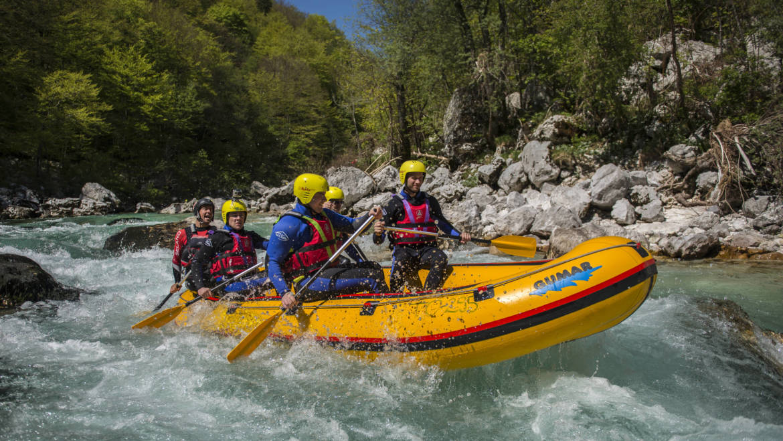 Klasični rafting na Soči