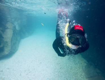 Snorklanje v Koritih Soče